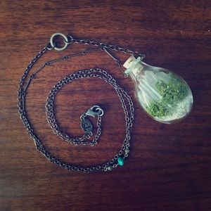 Quartz Terrarium Pendant Necklace